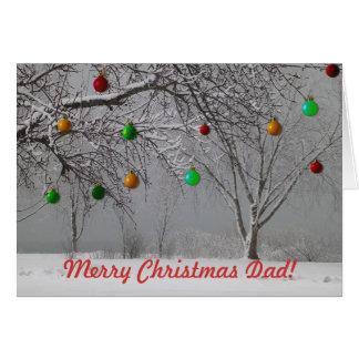 Tarjeta Papá/invierno de las Felices Navidad Paisaje-Lindo