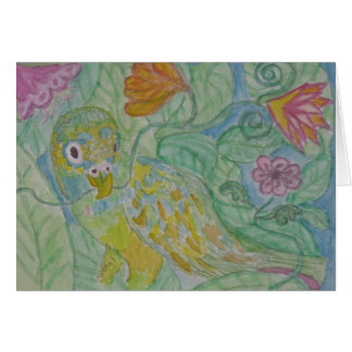 Tarjeta papagan