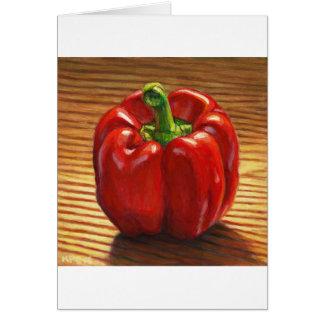 Tarjeta Paprika Rojo