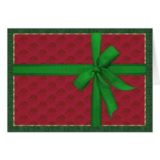 Tarjeta Paquete simple del navidad