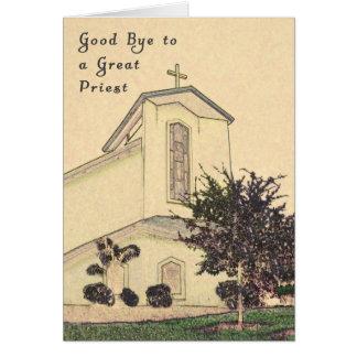 Tarjeta para decir adiós a su párroco
