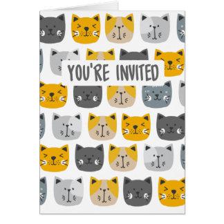 Tarjeta Para el amor de gatos