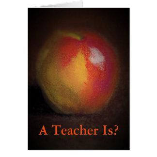 tarjeta para el profesor
