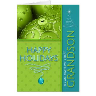 Tarjeta para grande - día de fiesta moderno verde y azul