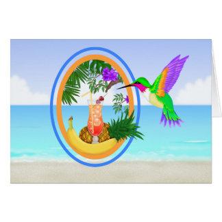 Tarjeta Para J - el paraíso de la playa #2 agradece le/la