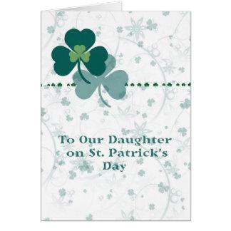 Tarjeta para la hija el el día de St Patrick