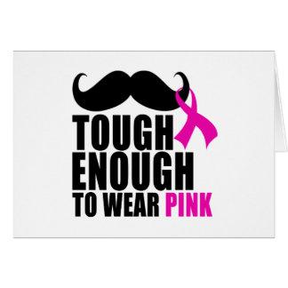 Tarjeta Para llevar el rosa para la conciencia del cáncer