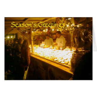 Tarjeta Parada del queso, mercado alemán del navidad,