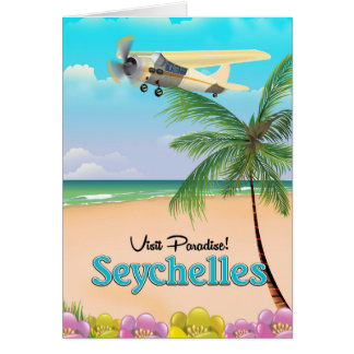 Tarjeta ¡Paraíso de la visita! Poster del viaje de