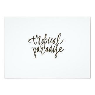 Tarjeta Paraíso Hawaiana-Tropical