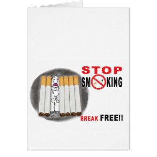 Tarjeta Pare el fumar de recordatorios - no más empalma