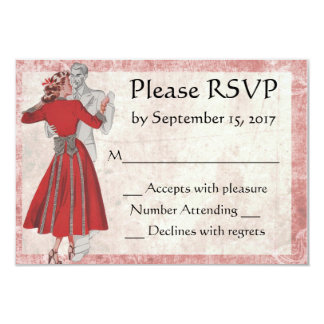 Tarjeta Pares del baile de la apariencia vintage