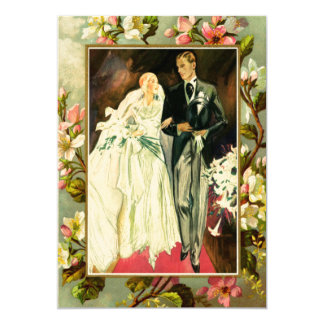 Tarjeta Pares del boda del vintage