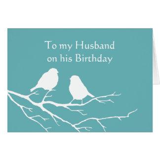Tarjeta Pares lindos del pájaro del gorrión del cumpleaños