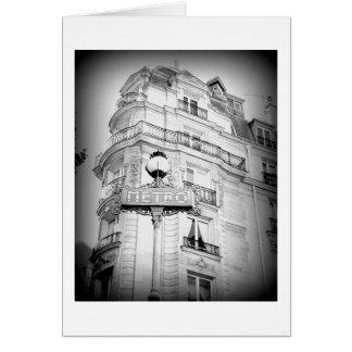 Tarjeta París, blanco y negro, espacio en blanco