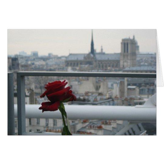 Tarjeta Paris on a Cloudy day