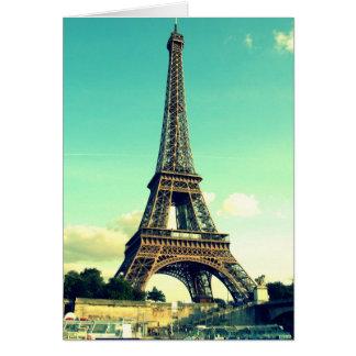 Tarjeta París/torre Eiffel Notecard (espacio en blanco)