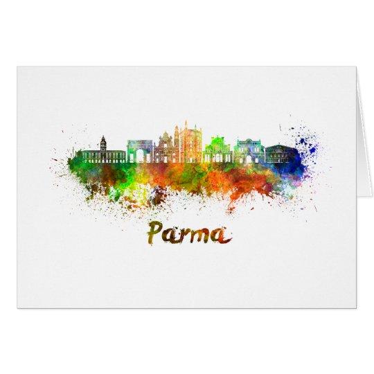 Tarjeta Parma skyline in watercolor