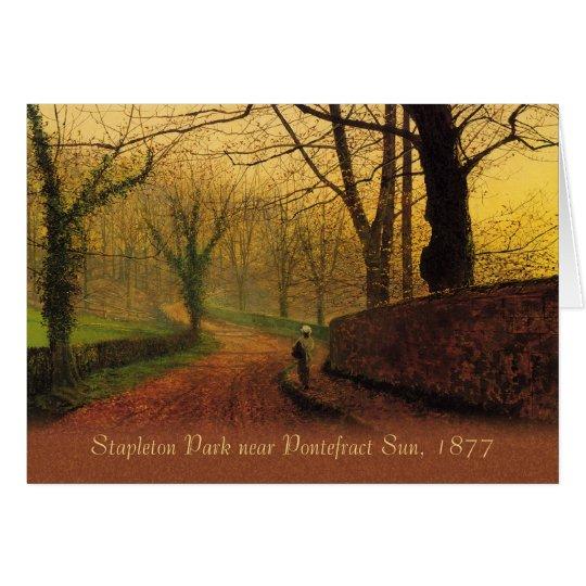 Tarjeta Parque 1877 CC0064 de Atkinson Grimshaw Stapleton