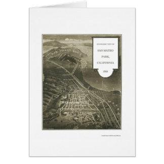 Tarjeta Parque de San Mateo, mapa panorámico de CA - 1905
