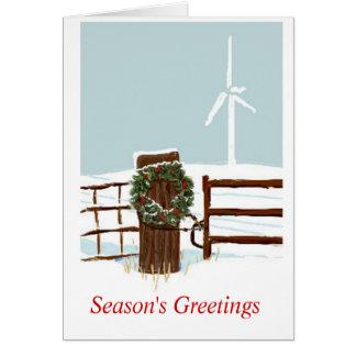 Tarjeta Parque eólico del navidad