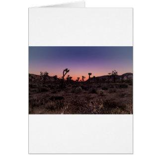 Tarjeta Parque nacional de la yuca de la puesta del sol