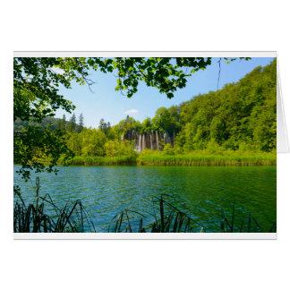 Tarjeta Parque nacional de los lagos Plitvice en Croacia