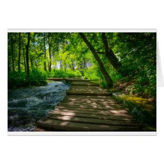 Tarjeta Parque nacional de Plitvice en Croacia
