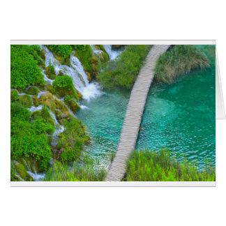 Tarjeta Parque nacional de Plitvice en pistas de