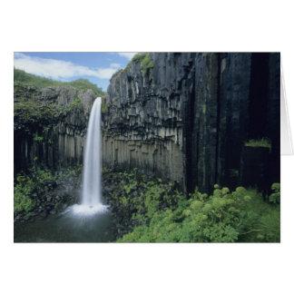 Tarjeta Parque nacional de Skaftafell, cascada de