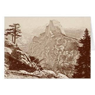 Tarjeta Parque nacional de Yosemite del vintage