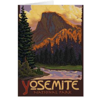 Tarjeta Parque nacional de Yosemite - media bóveda -