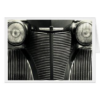 Tarjeta Parrilla del coche del vintage