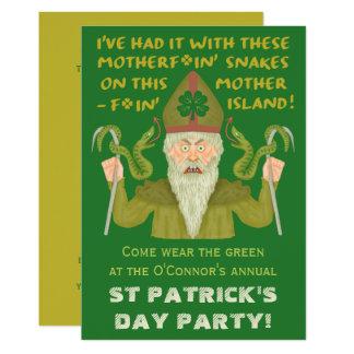 Tarjeta Parte divertida del irlandés del chiste de las