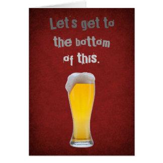 Tarjeta Parte inferior de la cerveza