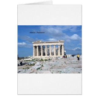 Tarjeta Parthenon de Atenas