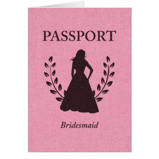 Tarjeta Pasaporte de la dama de honor