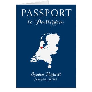 Tarjeta Pasaporte holandés del cumpleaños de Amsterdam