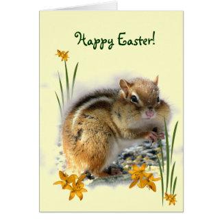 Tarjeta Pascua del Chipmunk