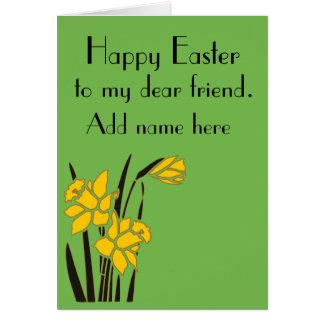 Tarjeta Pascua feliz, estimado amigo