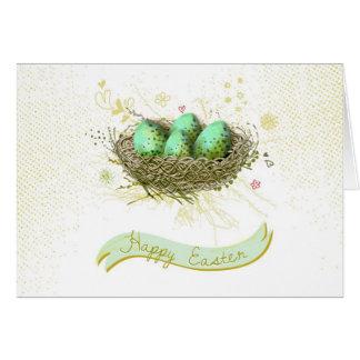 Tarjeta ¡Pascua feliz! - Jerarquía de los pájaros con los