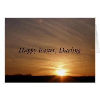 Tarjeta Pascua feliz, querido