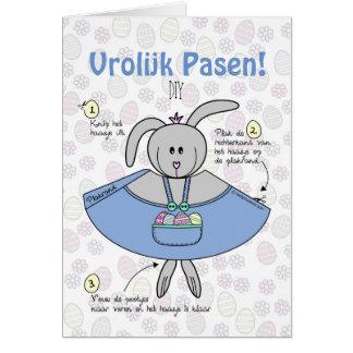 Tarjeta Pasen wenskaart DIY