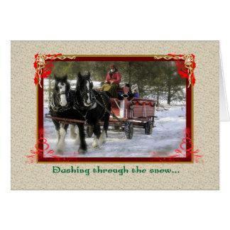 Tarjeta Paseo del trineo del invierno del