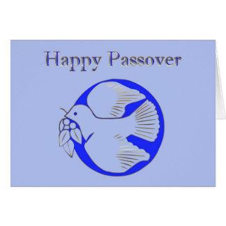 Tarjeta Passover Pesach que saluda la estrella hebrea