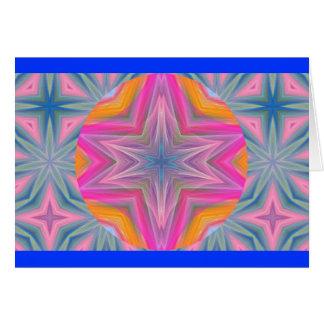Tarjeta Pastel caleidoscópico Design.1