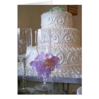 Tarjeta Pastel de bodas