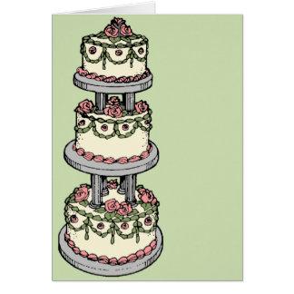 Tarjeta ¡Pastel de bodas - color adaptable!