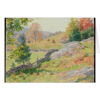 Tarjeta Pasto en septiembre - Willard Metcalf de la ladera