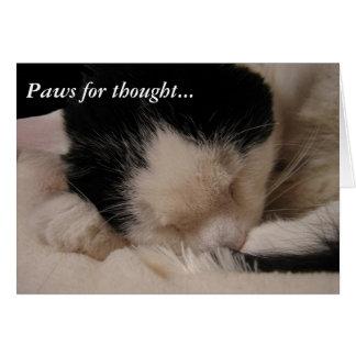 Tarjeta Patas para el pensamiento: Bella durmiente